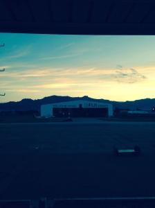 Fiji airport at sunrise