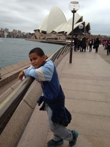 Walking towards the Opera House