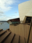 A view from inside the Opera House