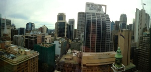 View from our hotel room in Sydney