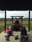 Tractor ride to the orchard