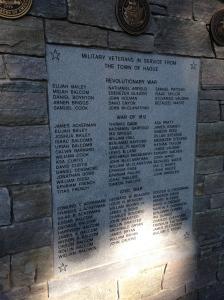 Memorial dedicated to Veterans of the Town of Hague