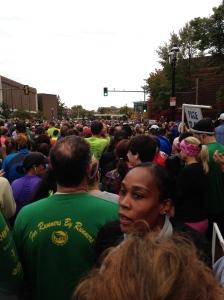 Starting line at the Baystate Half Marathon