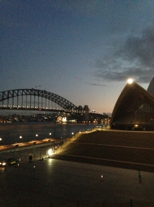 I set out for an early morning run in Sydney and naturally made my way down to the harbor.
