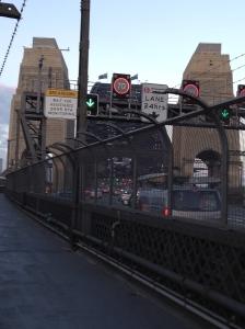 Traffic on the Sydney Harbor Bridge