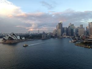 Sydney Harbor is a bustling place all day long and it's activity starts early in the morning.