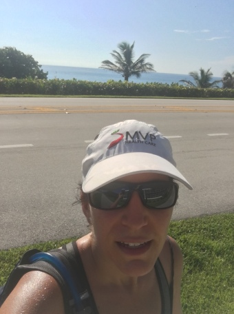 Sweaty, unflattering pic to prove that I survived the long run!